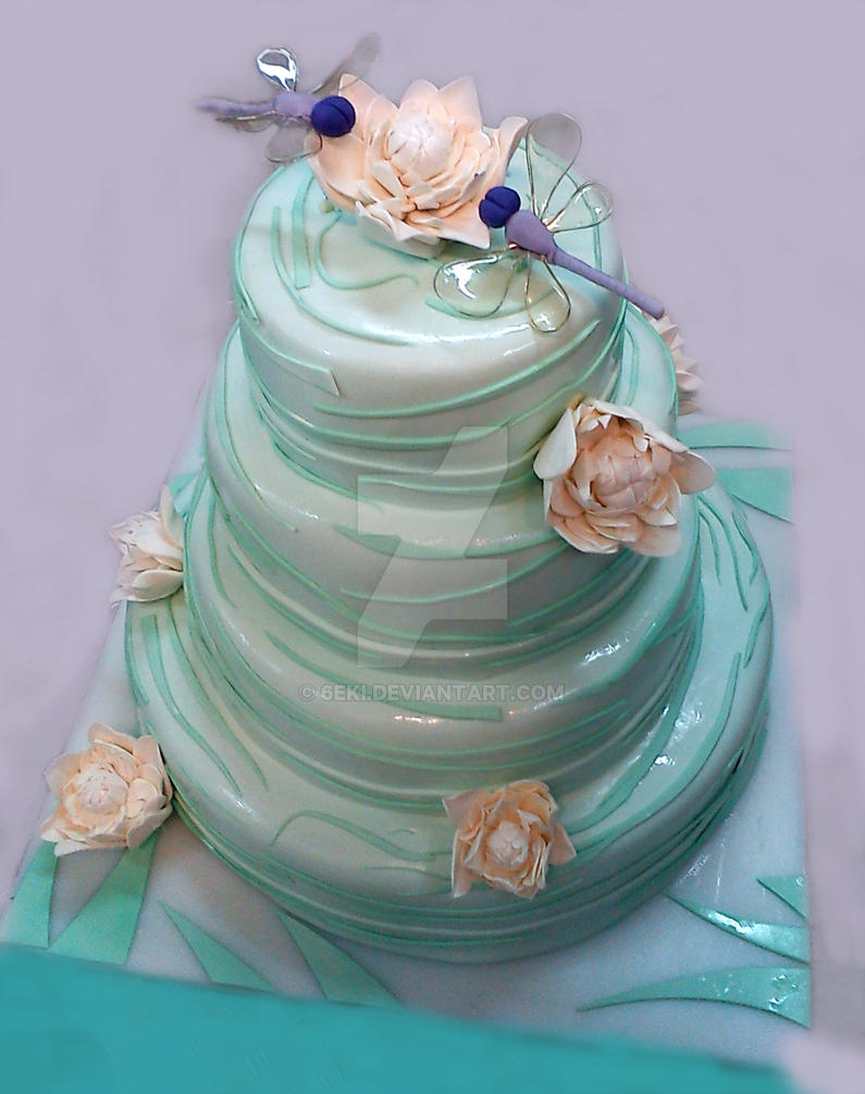 Cake Art South Penrith : Water Lilly Wedding Cake by 6eki on DeviantArt
