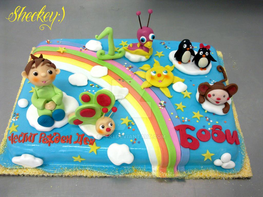 Cake Tv Show Crafts : Baby TV Cake by 6eki on DeviantArt