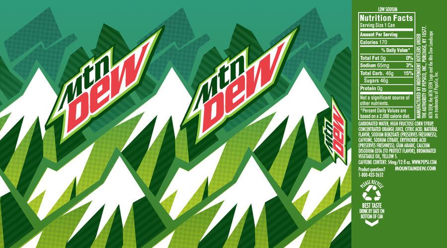 Mountain dew label design by westalbott on deviantart - Diet mountain dew wallpaper ...