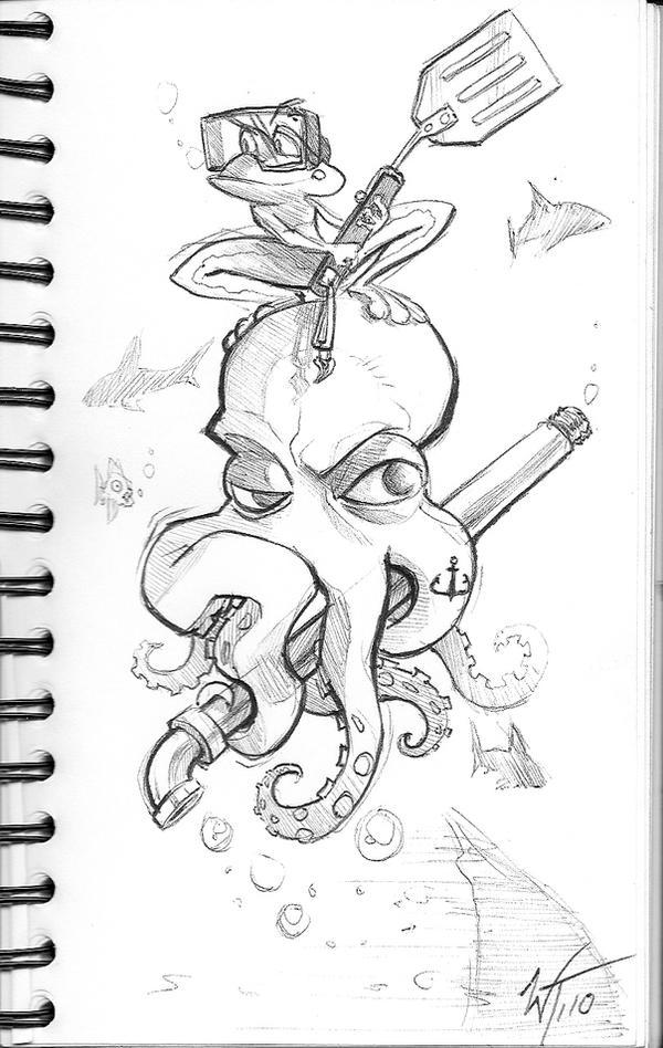Sketch: Aqua Force by WesTalbott
