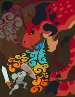 St George vs Dragon by WesTalbott