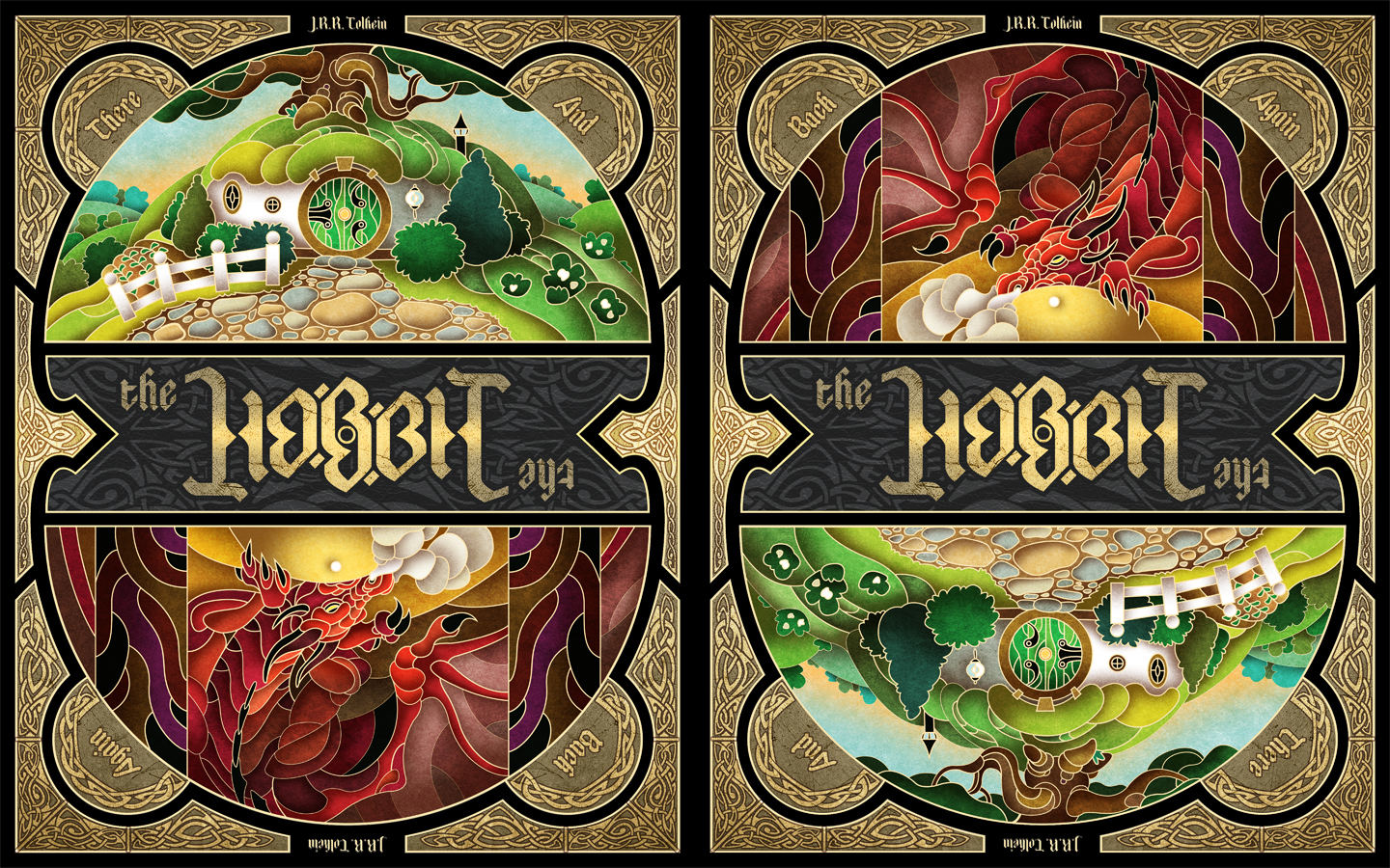 The Hobbit Book Cover Art : The hobbit th anniversary edition by westalbott on