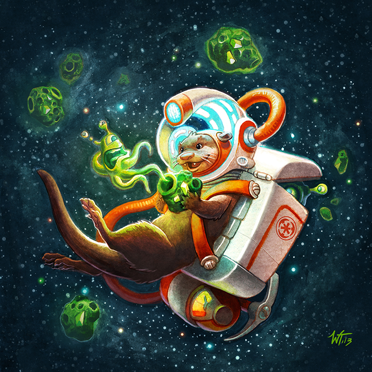 SPACE OTTER by WesTalbott