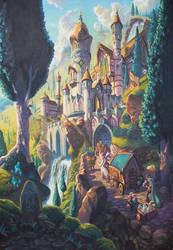 Elvish City of Trade by WesTalbott