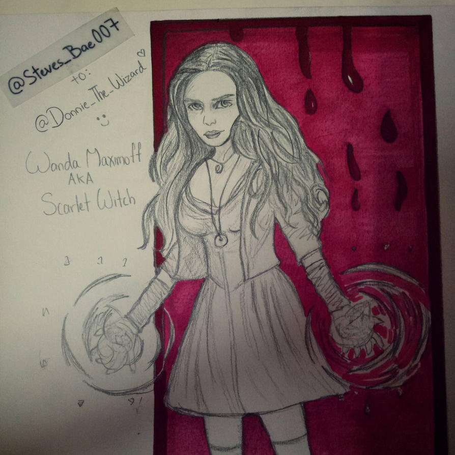 Wanda Maximoff AKA Scarlet Witch  by LOVESTEVEROGERS