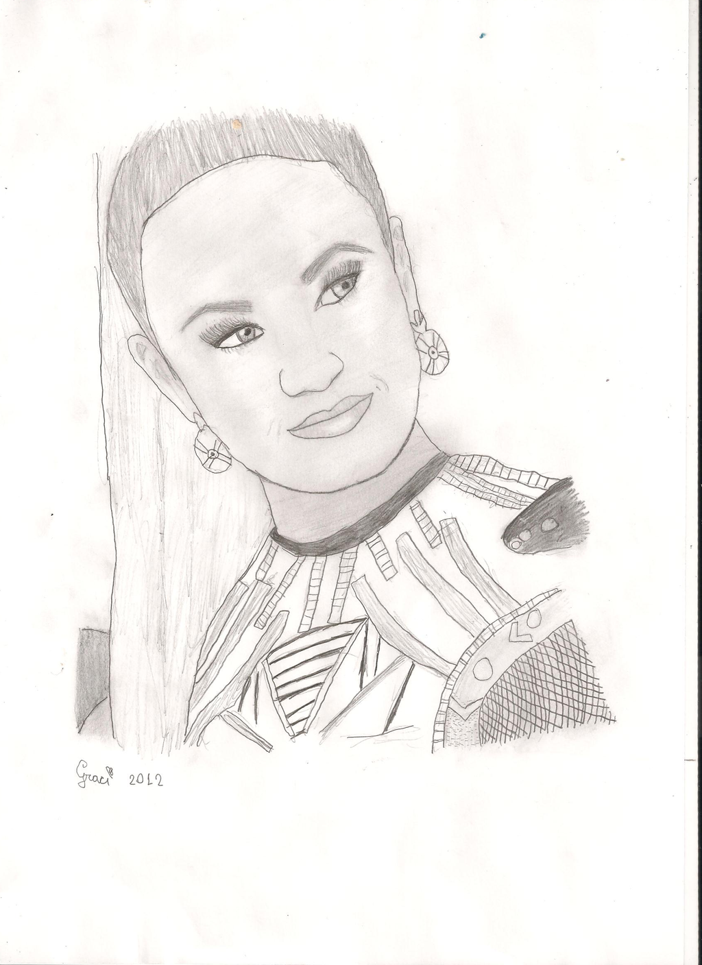 Pin coloring pages for kids number one 1 on pinterest for Demi lovato coloring pages