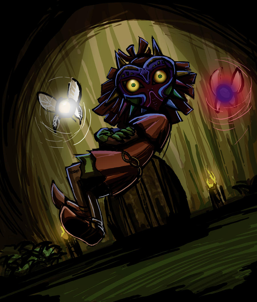 Skull Kid By BrendaFailache