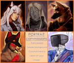 Portrait Commissions OPEN! by MitsuneTheKitsune