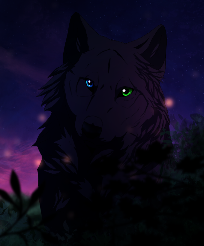 black wolf with green eyes - photo #28