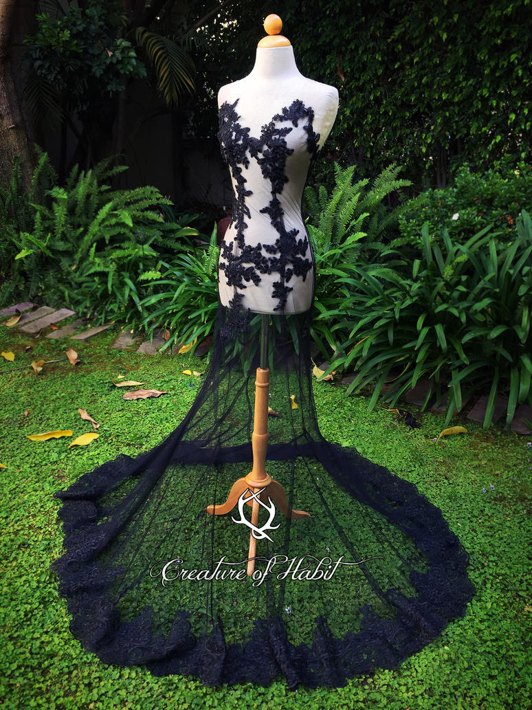 Black Tropics Gown by vani
