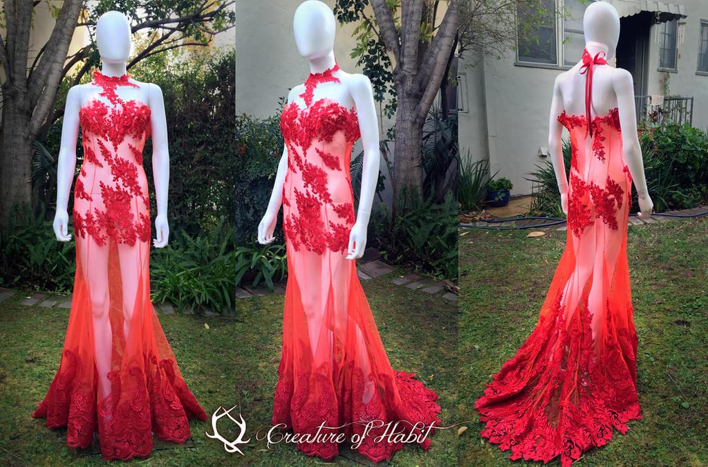 Phoenix Flames Tropics Gown by vani