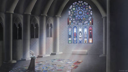 The chapel of the God of Void by Loracia-art