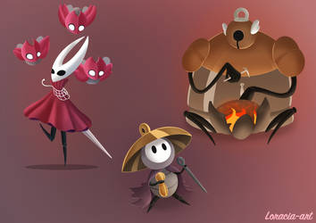 hollow Knight silksong doodle 2 by Loracia-art