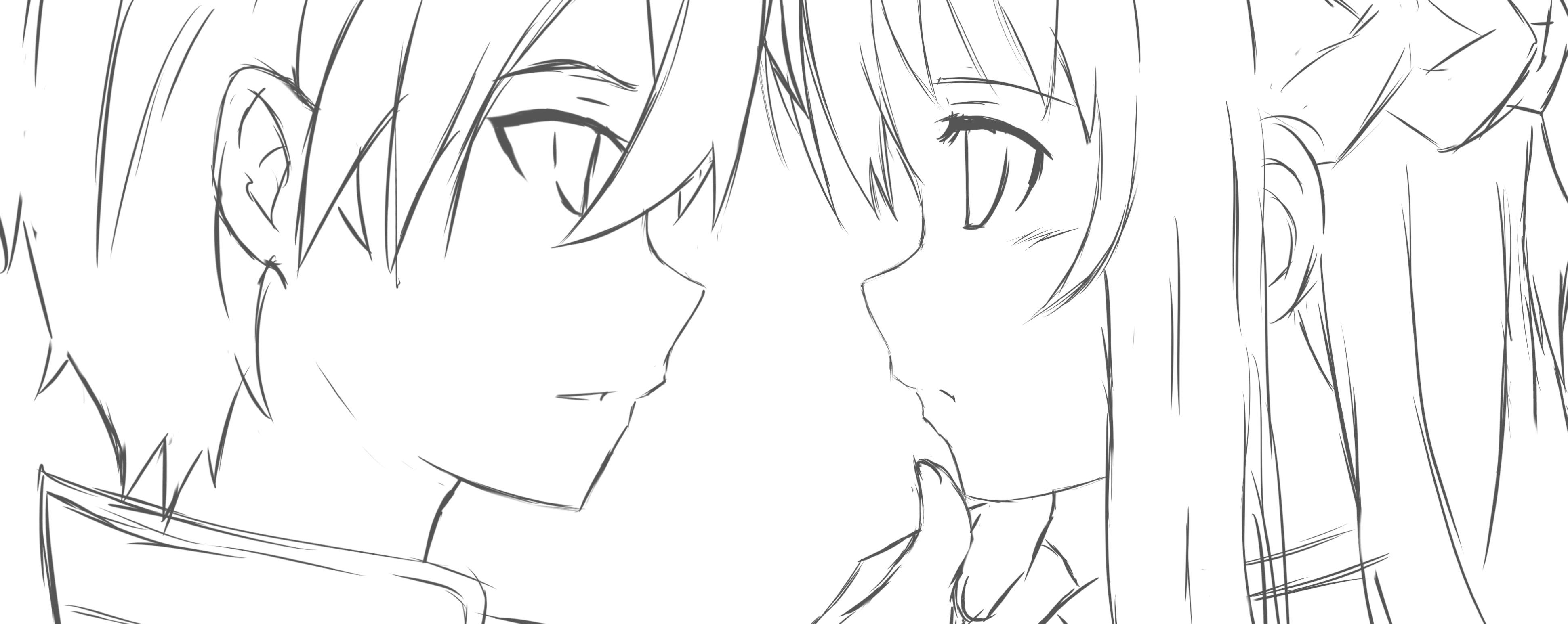 Kirito x Asuna by Rinine