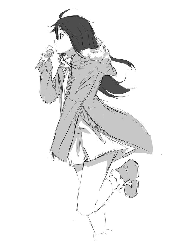 Sketch - Mio Akiyama by Rinine