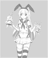 Shimakaze - speed sketch by Rinine