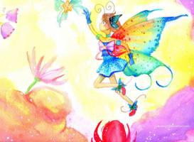 Choko Butterfly child Messy