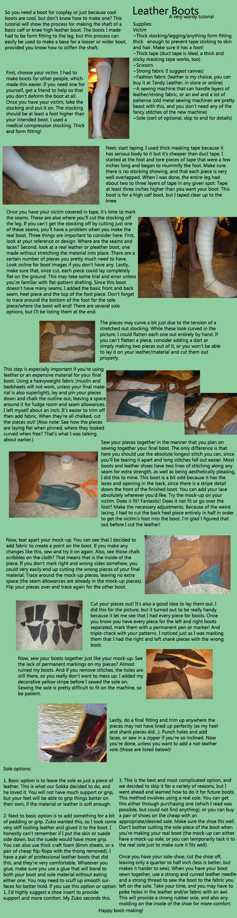 Leather Boot Tutorial