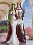 Setsuna and Lornd wedding by Irbisty by Gwarriorfanfic