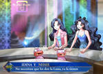 Idina and Nehie in El Hormiguero by Elyn Gontier by Gwarriorfanfic