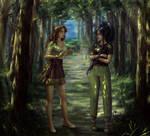 Maray and Gloria Elua by HoneyBunny-art