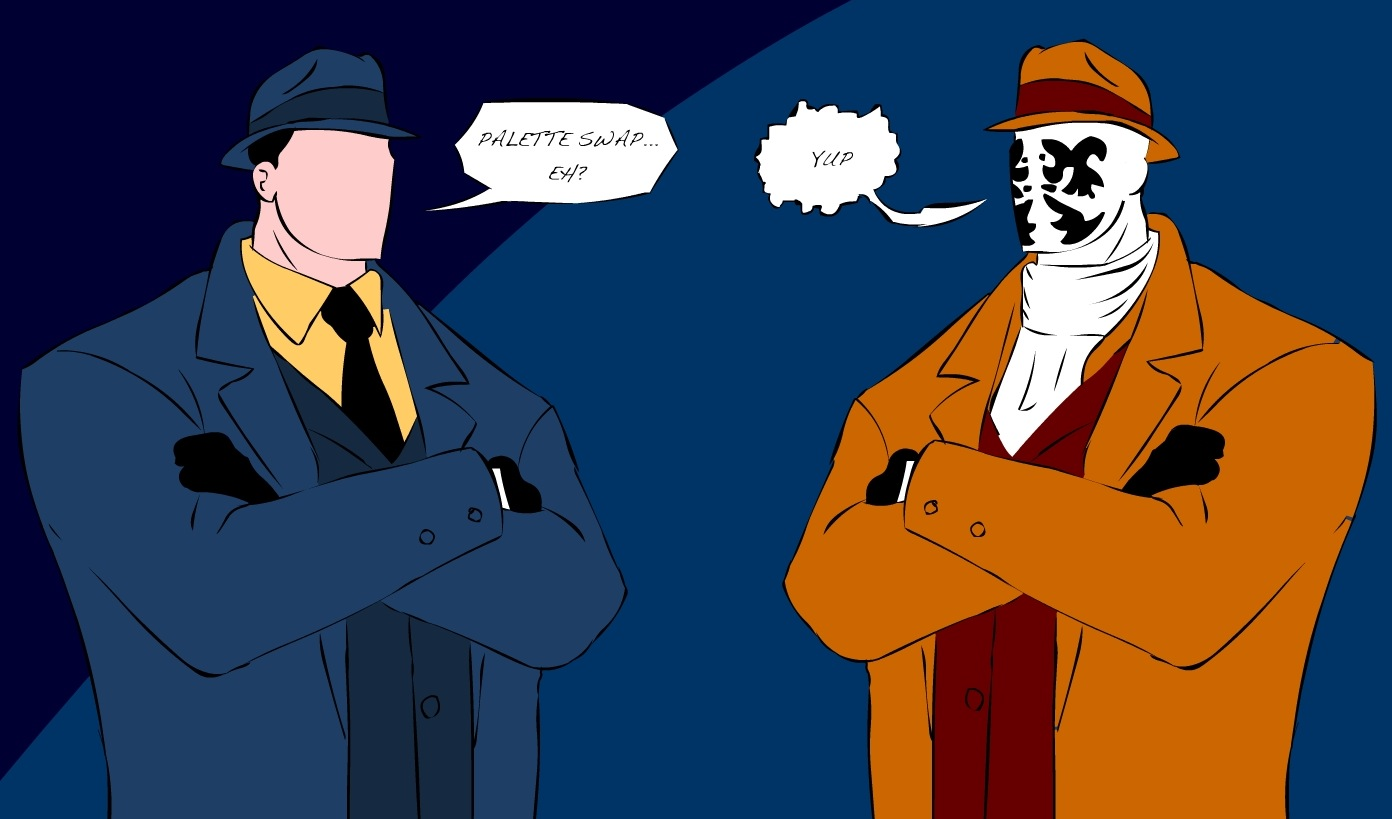 Question vs. Rorschach by TheMaskedJew