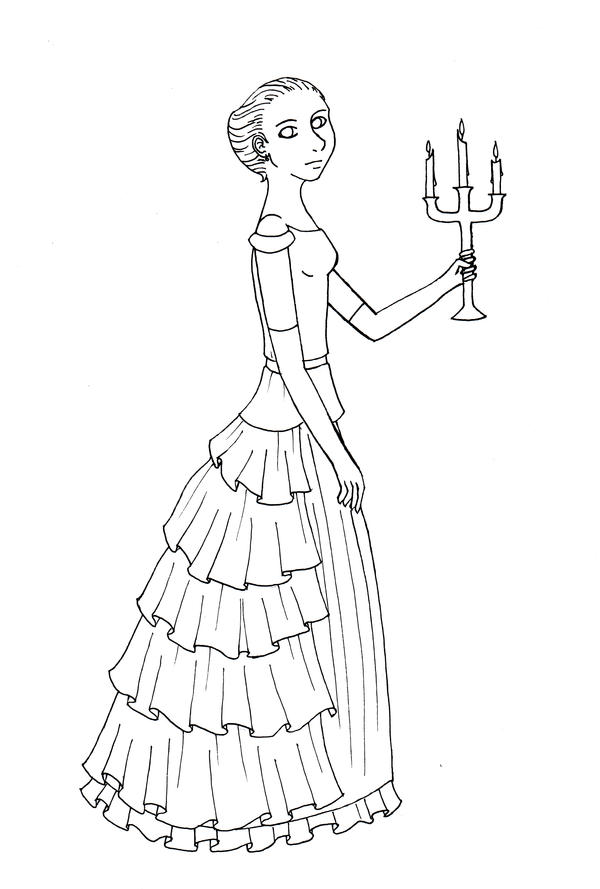 how to draw a candelabra