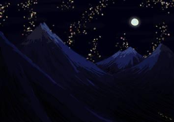 Midnight Journey speedpainting by BlueShadowM