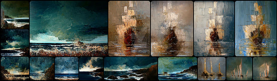 Marine paintings by StudioUndertheMoon