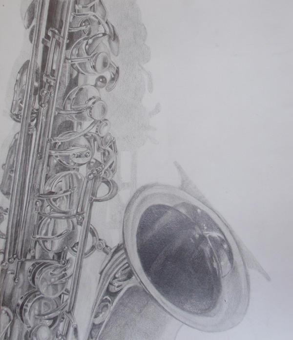alto saxophone by kittynamedally