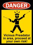 Startled Police Sign 3