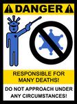 Startled Police Sign 5