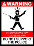 Startled Police Sign 4
