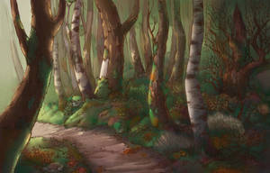 background forest by AudreyLIe
