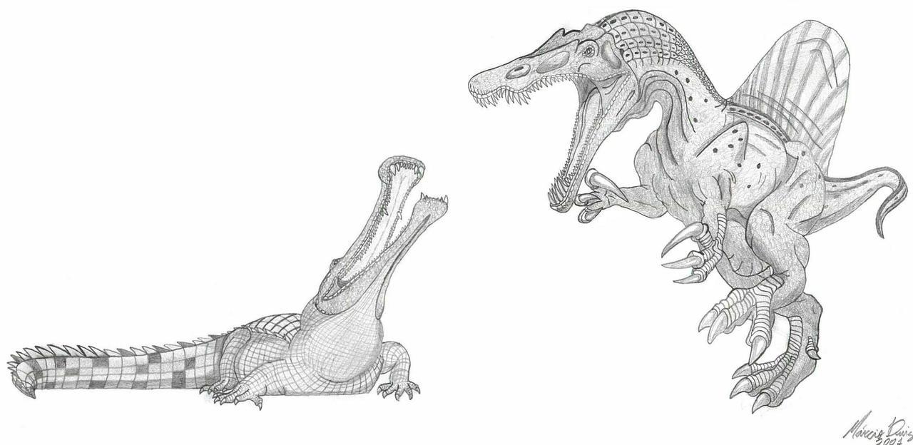 Sarcosuchus Coloring Page Sketch