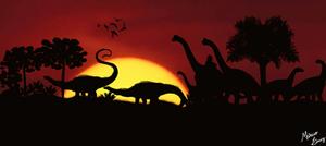 Jurassic Sauropods by Draco-Saurian