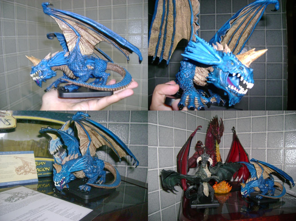 Gargantuan Blue Dragon Miniature – Billy Knight