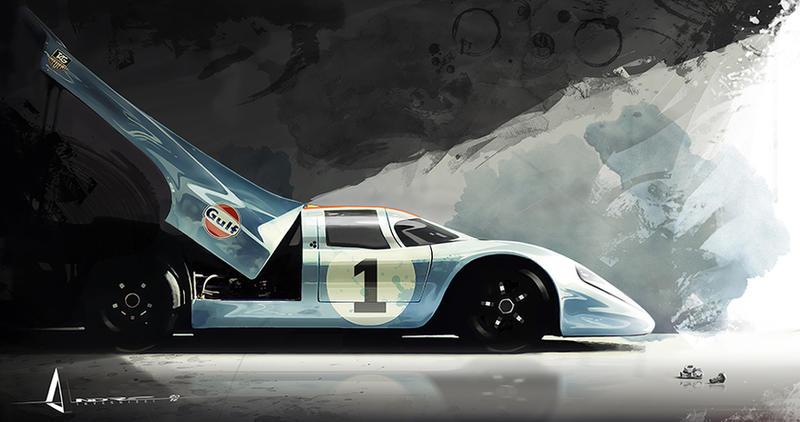 Porsche Gulf ART by theARTofGOTHIC
