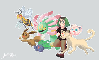My Pokemon Team by elanorchuah