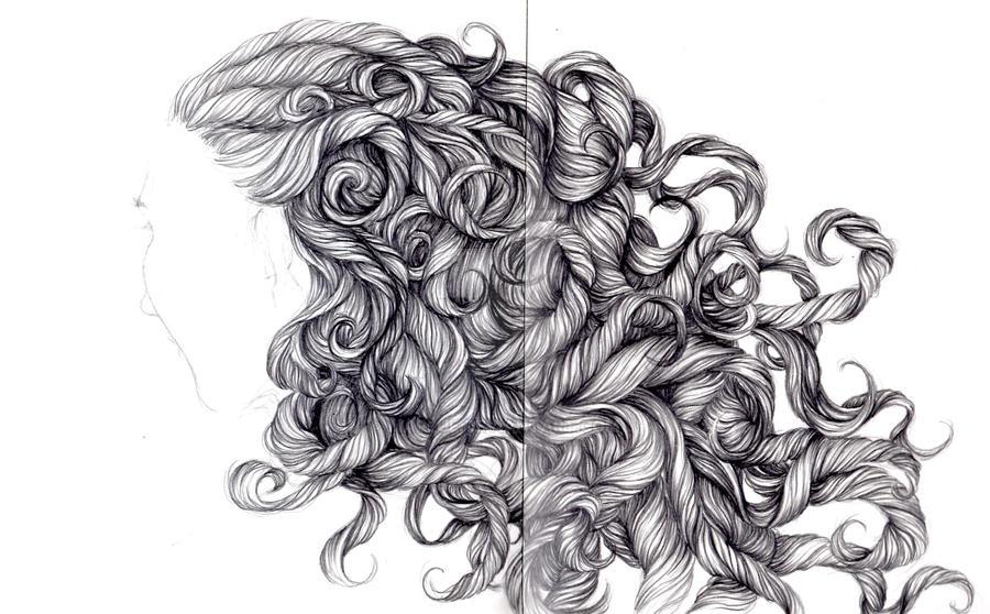 lost in curls by Marlue