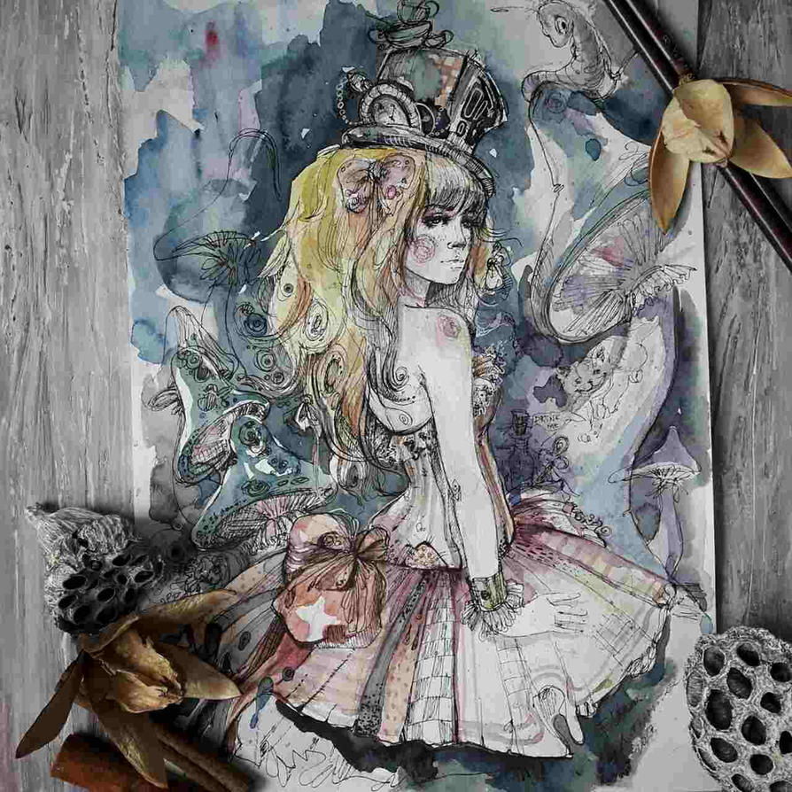 Alice in Wonderland by ElinasArt