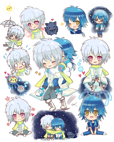 dmmd: clearao doodles by hinata-hime