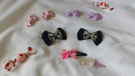 Handmade Hair Clips by hinata-hime