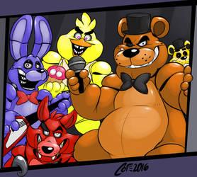 Fanart - The Fazbear bunch
