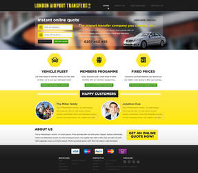 Failed competition design - Taxi website