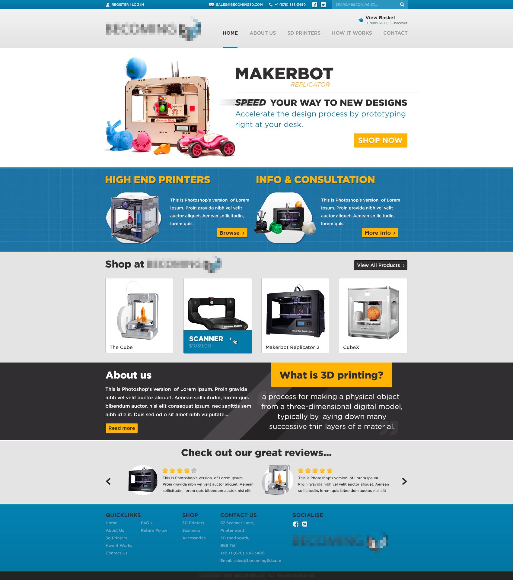 3d Printing Website Design By R Bibb On Deviantart