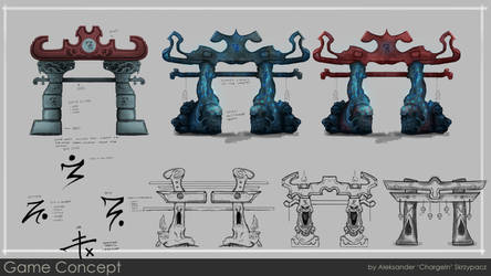 Concept Sheet for personal project: Gates of Death by ChargeIn
