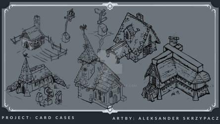 Village Buildings - Concept Art - Personal project