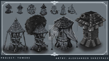 Towers - Cocnept Art - Personal Project