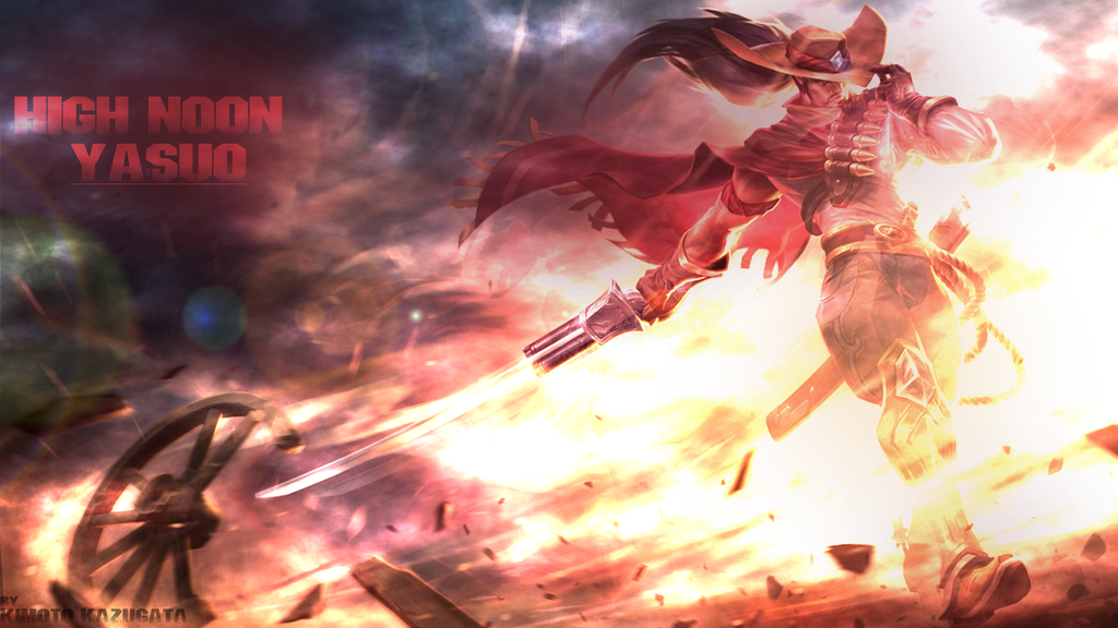 high noon yasuo wallpaper edit in full hd by